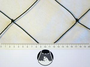 Schutzabdecknetz gegen Kormorane, Möwen und Fischreiher PET 55/1,4 mm schwarz