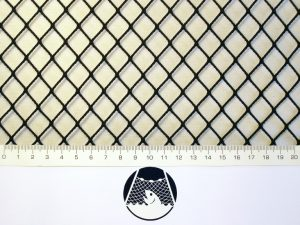 Senknetz Komplett 1,5 x 1,5 m/ PAD 15×15 mm schwarz – knotenlos - 2