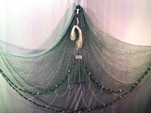 Wurfnetz 2 m/ Nylon 20 mm grün geknotet