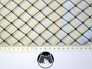 Tennisnetz für weniger exponierte Plätze, Polyethylen 20/1,1 mm dunkelgrün