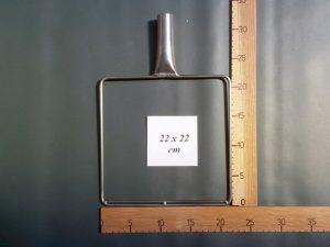 Kescherbügel Edelstahldraht 22×22 cm