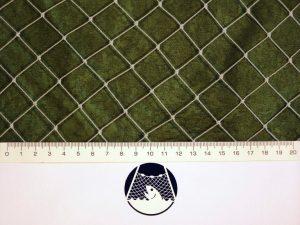 Schutz – Netzstoff, geknotet, Polyethylen – multifil (PET) 22×22/0,9 mm transparent