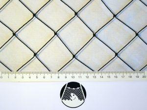 Tennisnetz für weniger exponierte Plätze, Polyethylen 40/1,4 mm schwarz