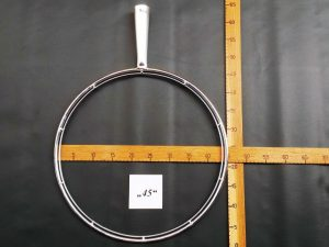 Kescherbügel rund Edelstahl 45 cm