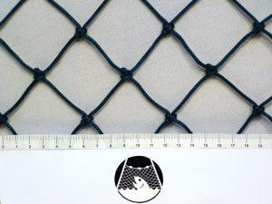 Tennisnetz für exponierte Plätze, Polyethylen 45/2,5 mm grün