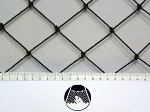 Tennisnetz für weniger exponierte Plätze, Polyethylen 45/2,0 mm dunkelgrün
