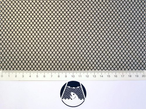 Netzstoff Polyamid Nylon Raschel industriell 4×4/ 0,6 mm PAD schwarz - 1