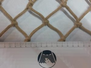 Handgeflochtenes Deko-Netz, Baumwolle 50/5,0 mm
