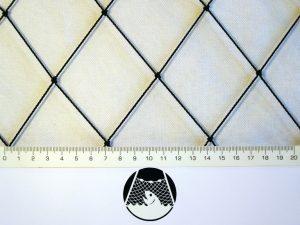 Volierennetz für Geflügelzucht PET 55/1,4 mm schwarz