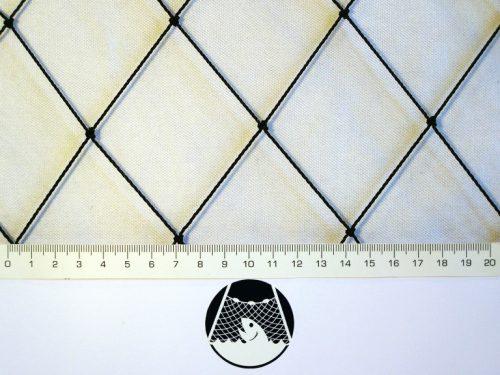 Schutznetz für die Aufzucht von Hühnern und kleinen Hausvögeln, Polyethylen 55/1,4 mm schwarz - 1