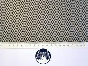 Netzstoff Polyamid Nylon Raschel industriell 5×5/ 0,6 mm PAD schwarz