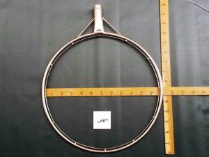 Kescherbügel rund Edelstahl 60 cm