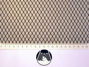 Netzstoff Polyamid Nylon Raschel industriell 8×8/ 0,6 mm PAD schwarz