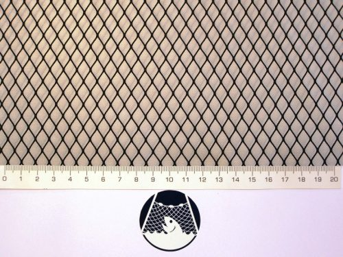 Netzstoff Polyamid Nylon Raschel industriell 8×8/ 0,6 mm PAD schwarz - 1