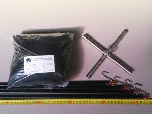 Senknetz Komplett 1,5 x 1,5 m/ PAD 5×5 mm schwarz – knotenlos