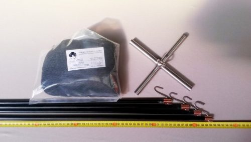 Senknetz Komplett 1,5 x 1,5m + Nylon monofil 6×6 mm transparent – geknotet - 1