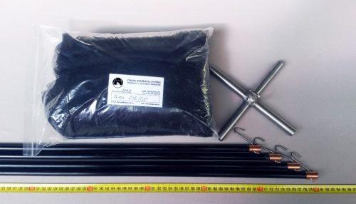 Senknetz Komplett 2 x 2m + Nylon 5×5 mm schwarz – knotenlos - 1