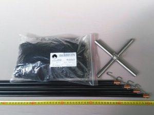 Senknetz Komplett 2 x 2 m/ PAD 8×8 mm schwarz – knotenlos