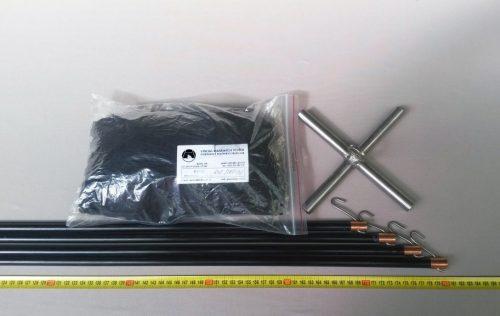 Senknetz Komplett 2 x 2 m/ PAD 8×8 mm schwarz – knotenlos - 1