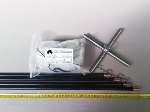 Senknetz Komplett 2 x 2m + Nylon 8×8 mm schwarz – knotenlos