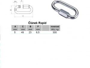 Verbinder Rapid 5 mm verzinkt - 2