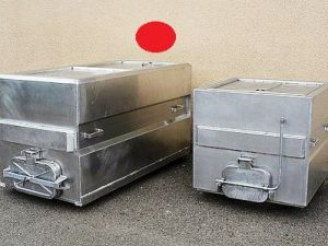 Transportbox Standard – groß – Aluminium