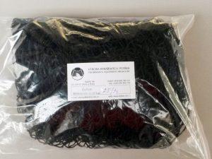 Senknetz 2,5 x 2,5 m/ Nylon 20×20/1,2 mm schwarz knotenlos