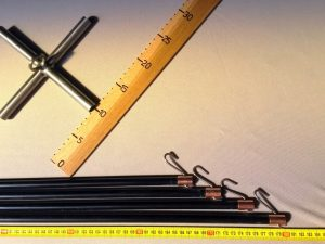 Konstruktion für Senknetz 2,0 x 2,0/ 12 mm