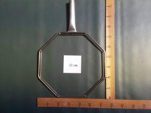 Kescherbügel achteckig Edelstahl 32 cm