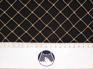 Tennisnetz für weniger exponierte Plätze, Polyethylen 20/1,0 mm stein