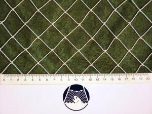 Absperrnetz – Zaun 25×25/1,4 mm PAD weiß geknotet/ 2m