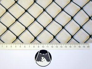 Tennisnetz für exponierte Plätze, Polyethylen 27/1,5 mm schwarz