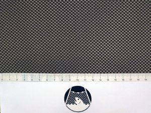 Netzstoff Polyester knotenlos industriell 2×2/0,5 mm schwarz