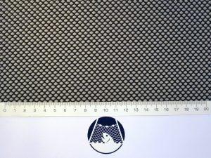 Netzstoff Polyester knotenlos industriell 4×4/1,0 mm schwarz