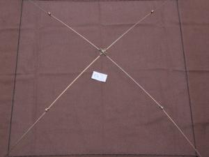 Sportangler (Senknetz Komplett) 1 x 1 m/6×6 mm Monofil