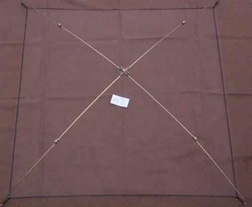 Sportangler (Senknetz Komplett) 1 x 1 m/ Nylon-monofil 8×8 mm - 1